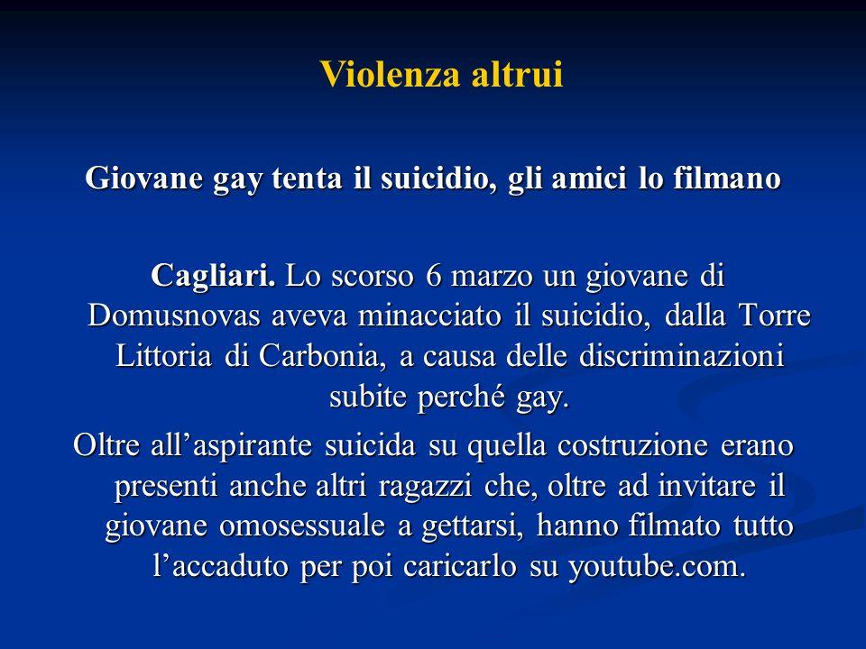 Giovane gay tenta il suicidio, gli amici lo filmano