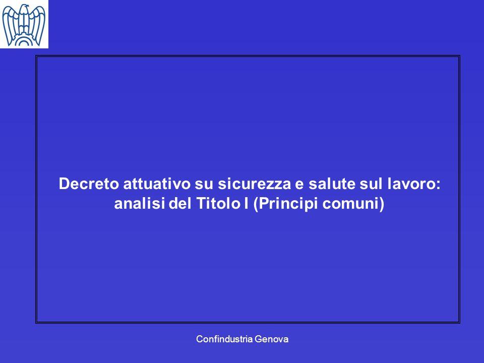 Decreto attuativo su sicurezza e salute sul lavoro: analisi del Titolo I (Principi comuni)