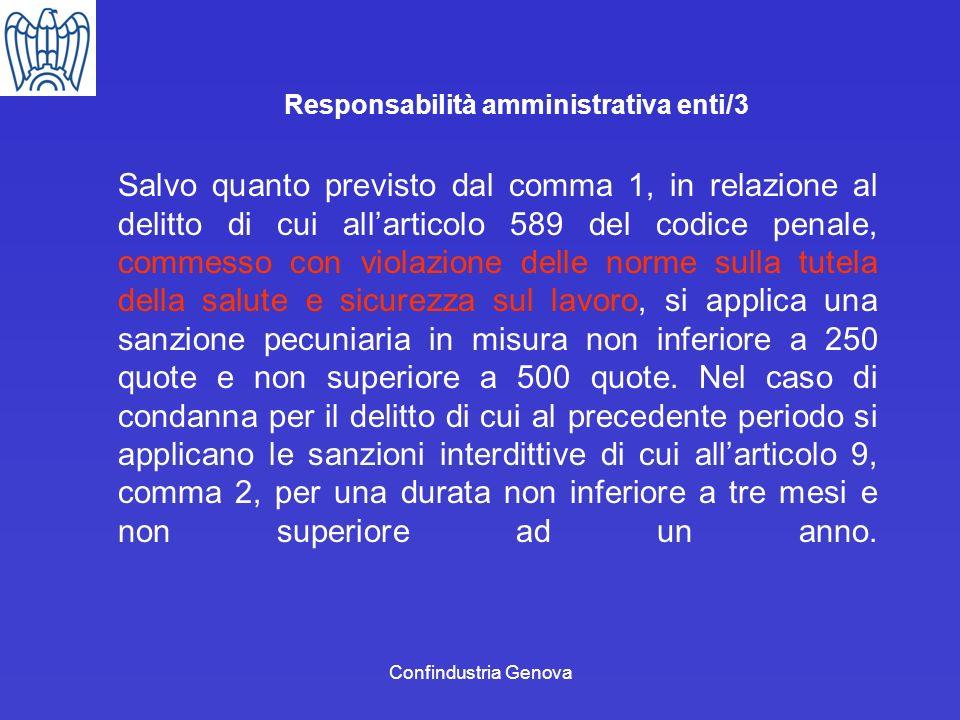 Responsabilità amministrativa enti/3