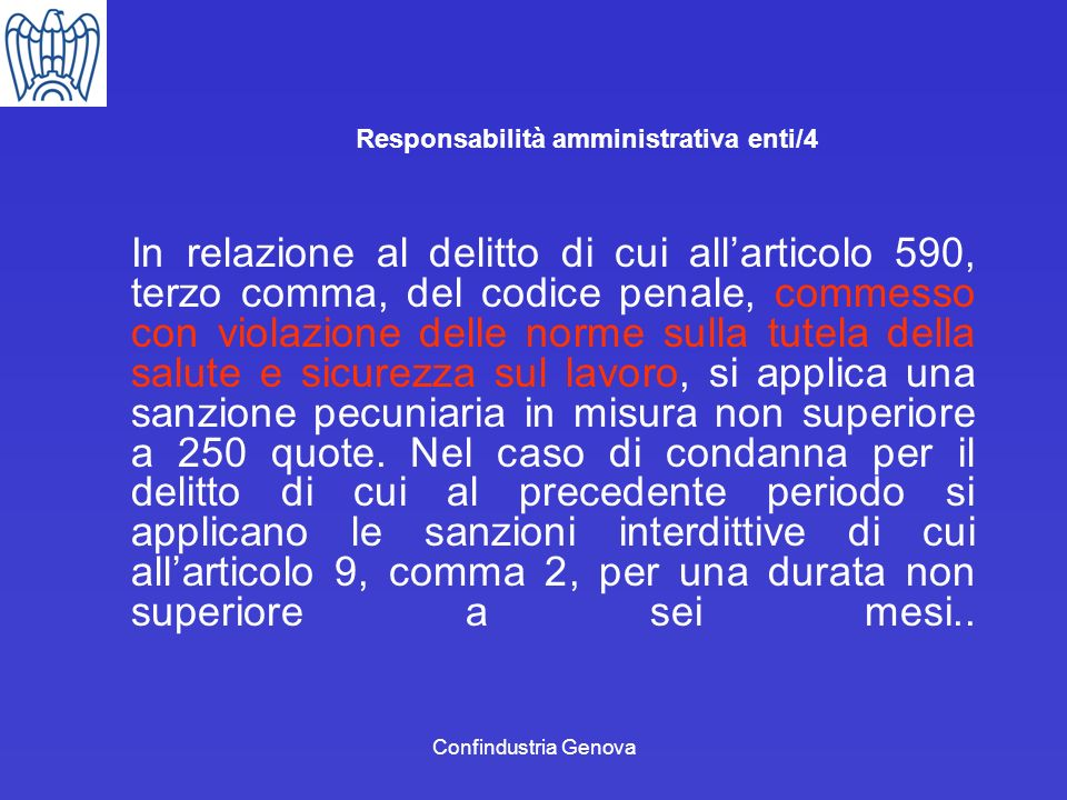 Responsabilità amministrativa enti/4
