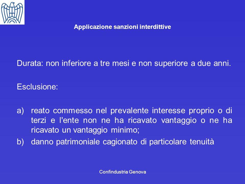 Applicazione sanzioni interdittive