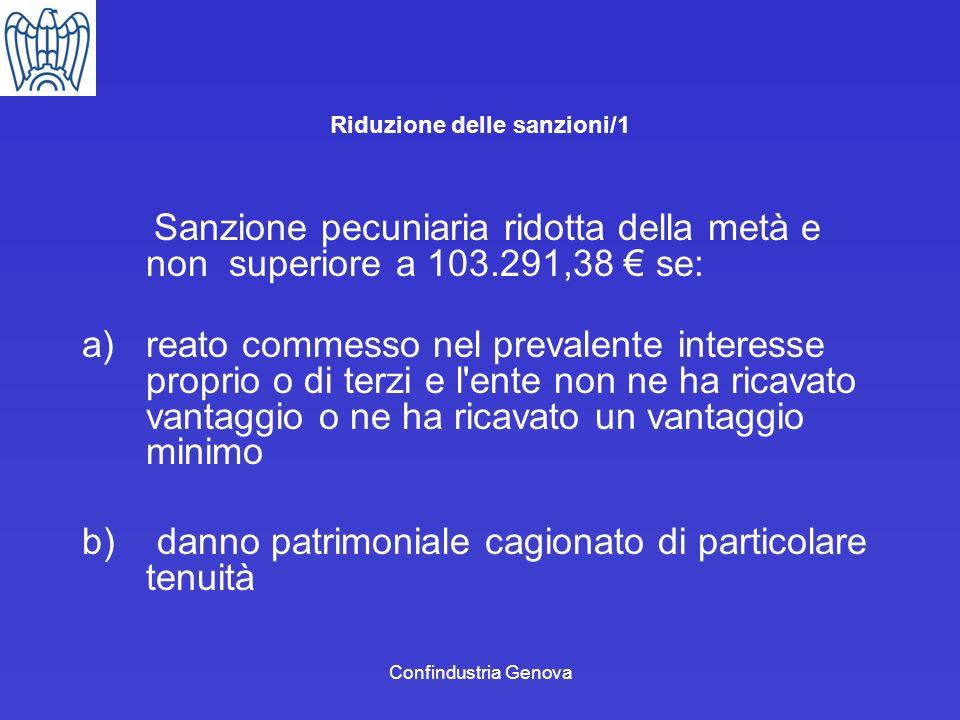 Riduzione delle sanzioni/1