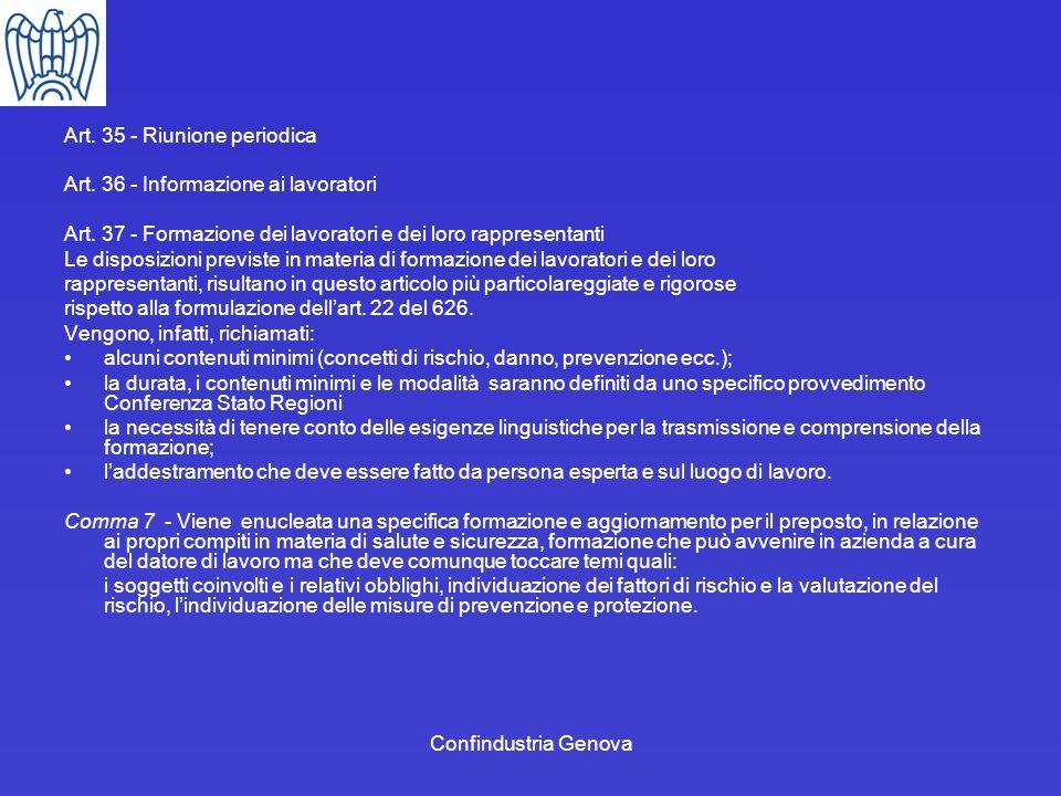 Art. 35 - Riunione periodica