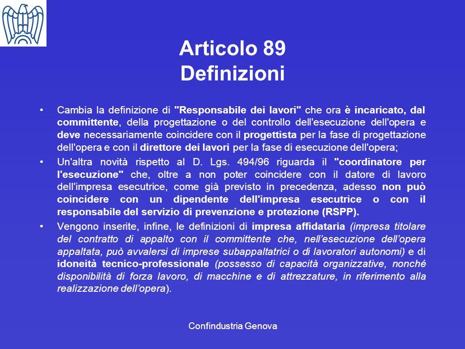 Articolo 89 Definizioni
