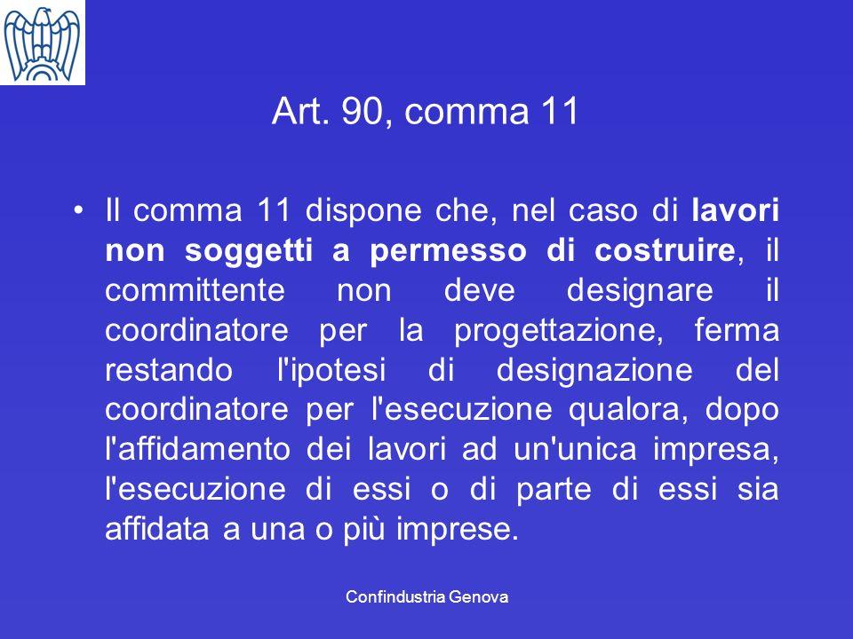 Art. 90, comma 11