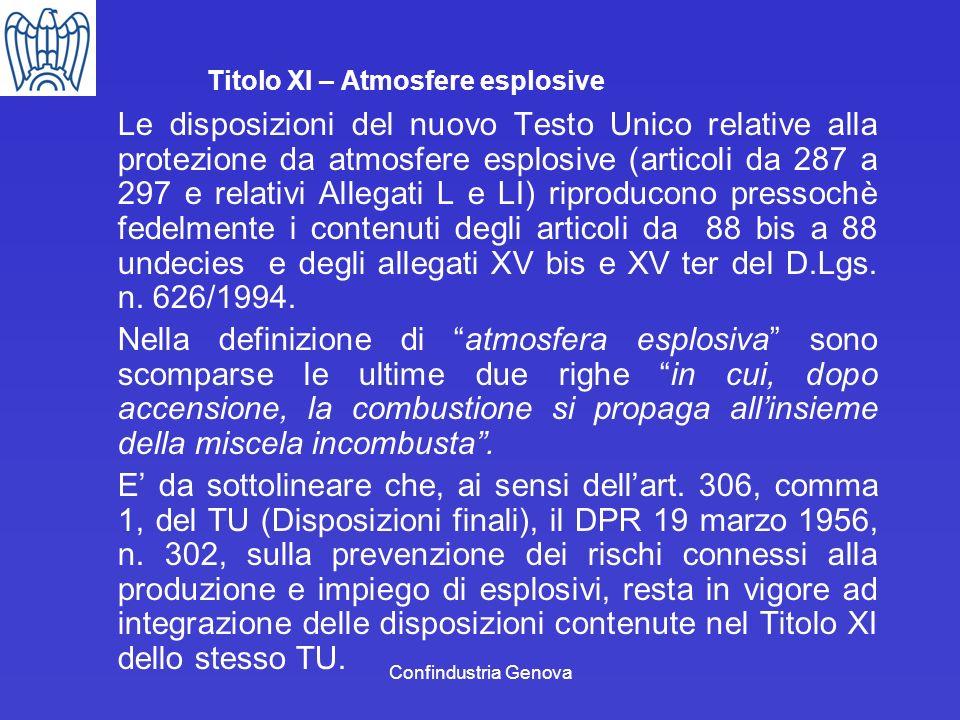 Titolo XI – Atmosfere esplosive