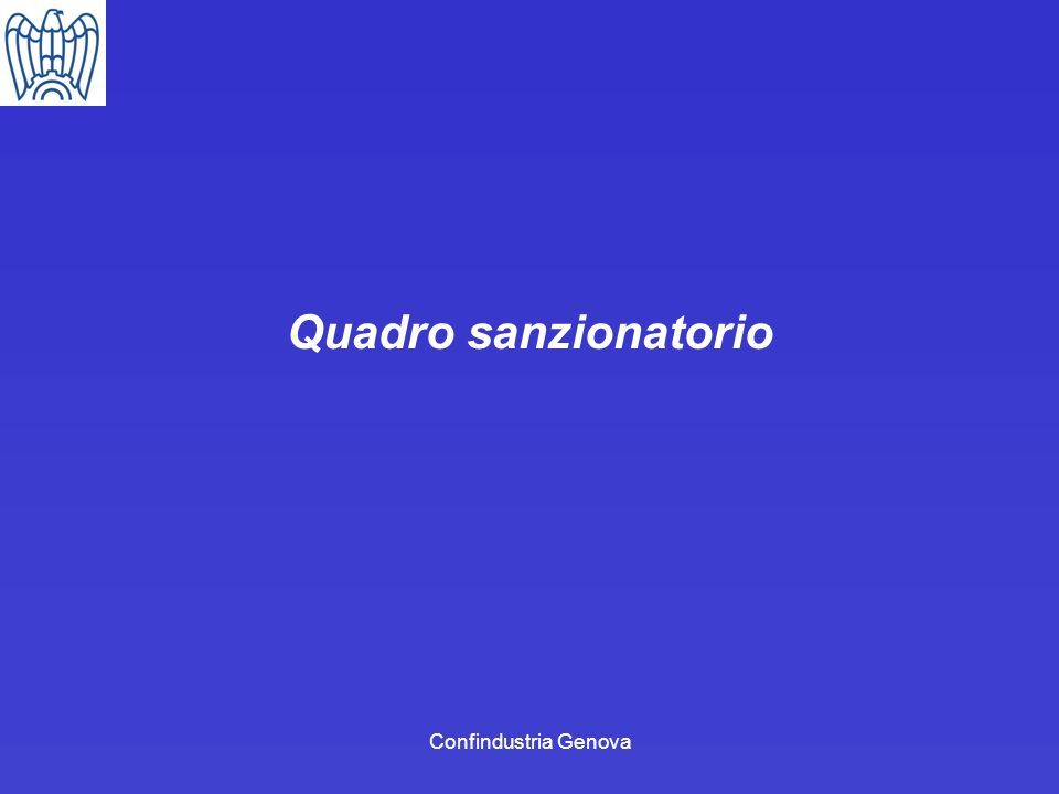 Quadro sanzionatorio Confindustria Genova