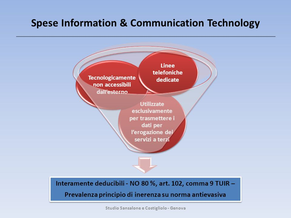Spese Information & Communication Technology