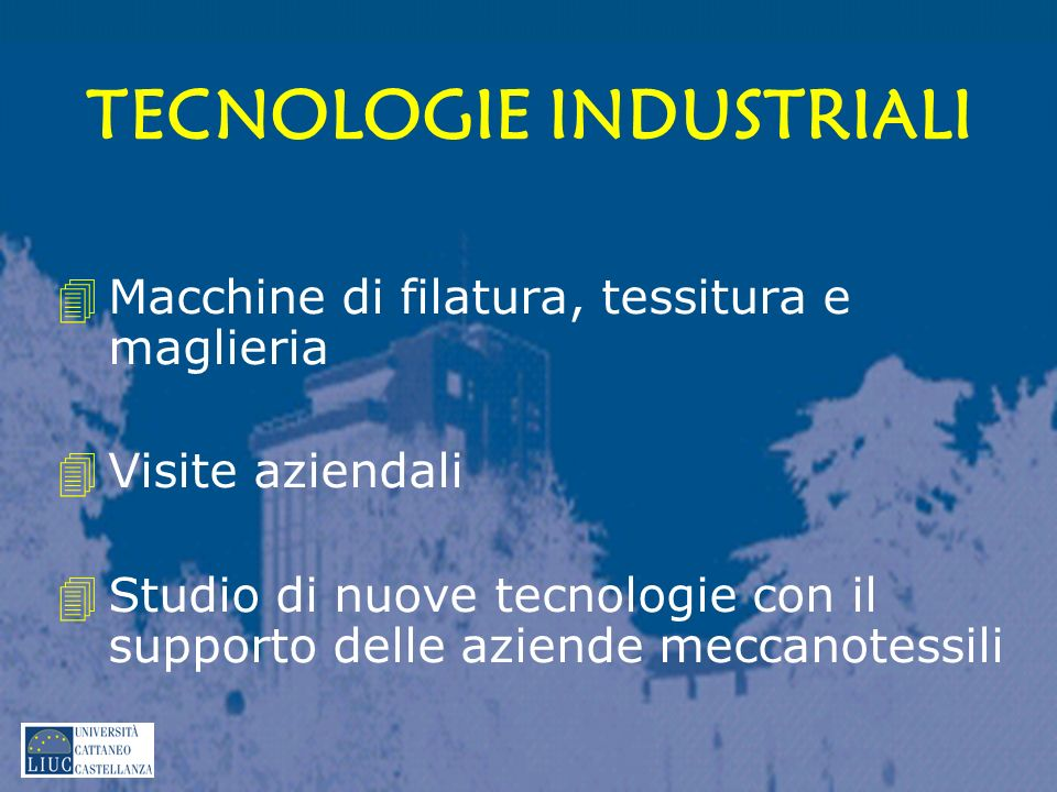 TECNOLOGIE INDUSTRIALI