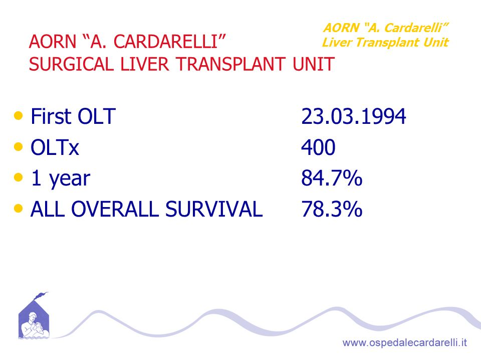AORN A. CARDARELLI SURGICAL LIVER TRANSPLANT UNIT
