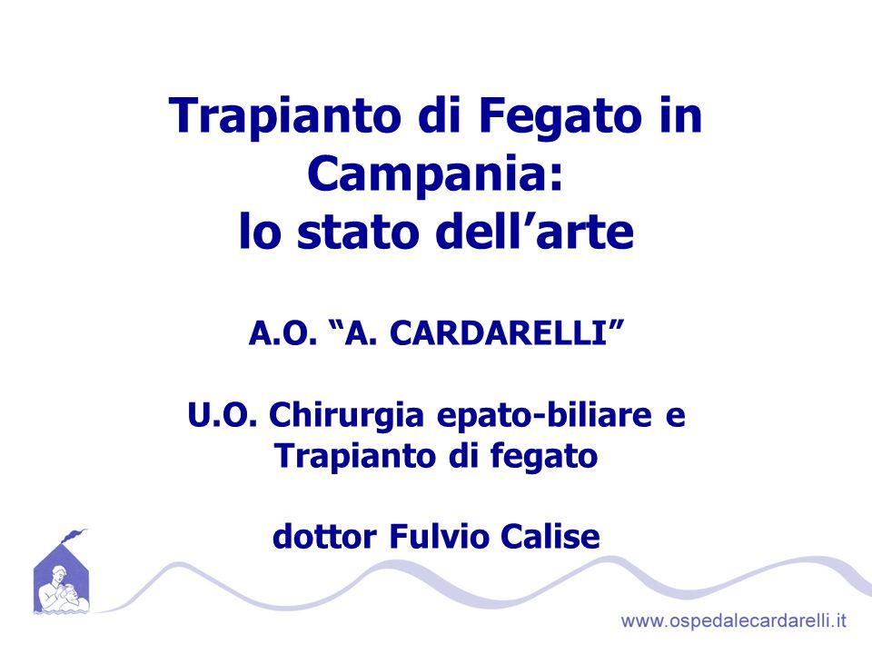 Trapianto di Fegato in Campania: lo stato dell'arte A. O. A