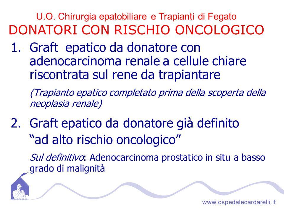 DONATORI CON RISCHIO ONCOLOGICO