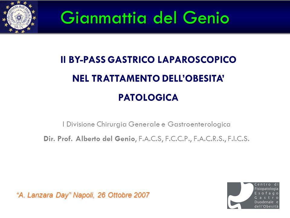 Gianmattia del Genio Il BY-PASS GASTRICO LAPAROSCOPICO