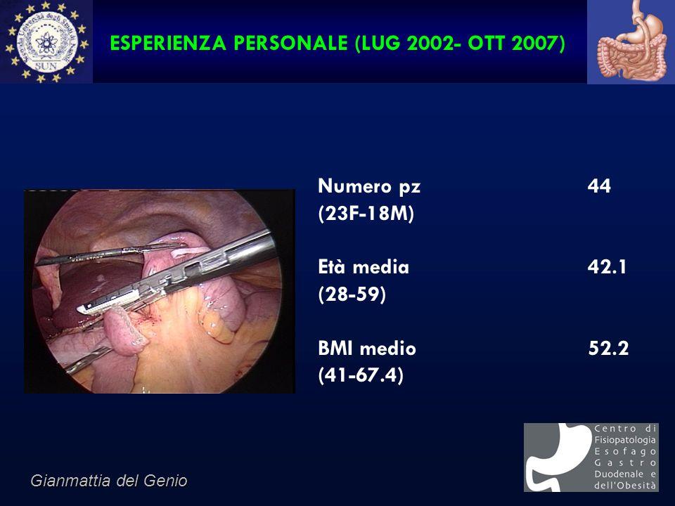 ESPERIENZA PERSONALE (LUG 2002- OTT 2007)