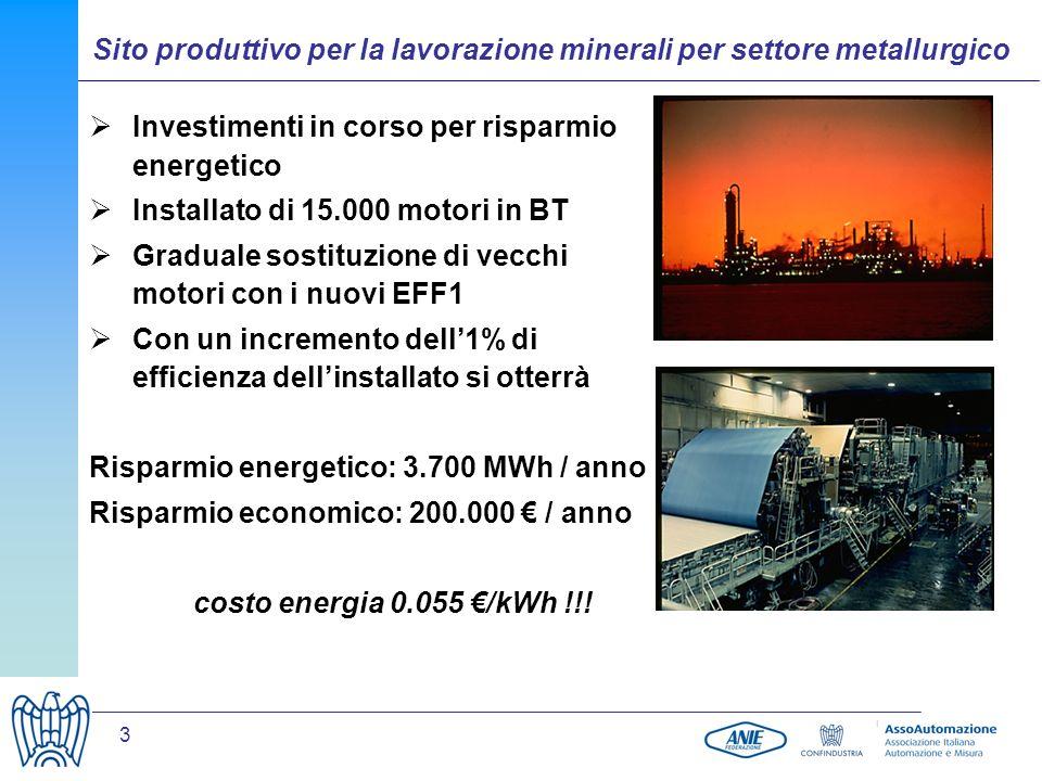Sito produttivo per la lavorazione minerali per settore metallurgico