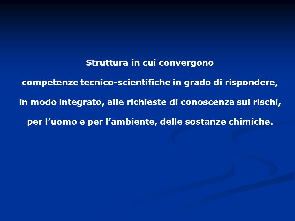 competenze tecnico-scientifiche in grado di rispondere,