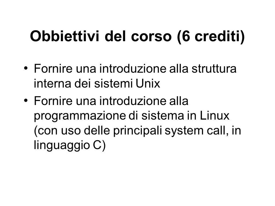 Obbiettivi del corso (6 crediti)
