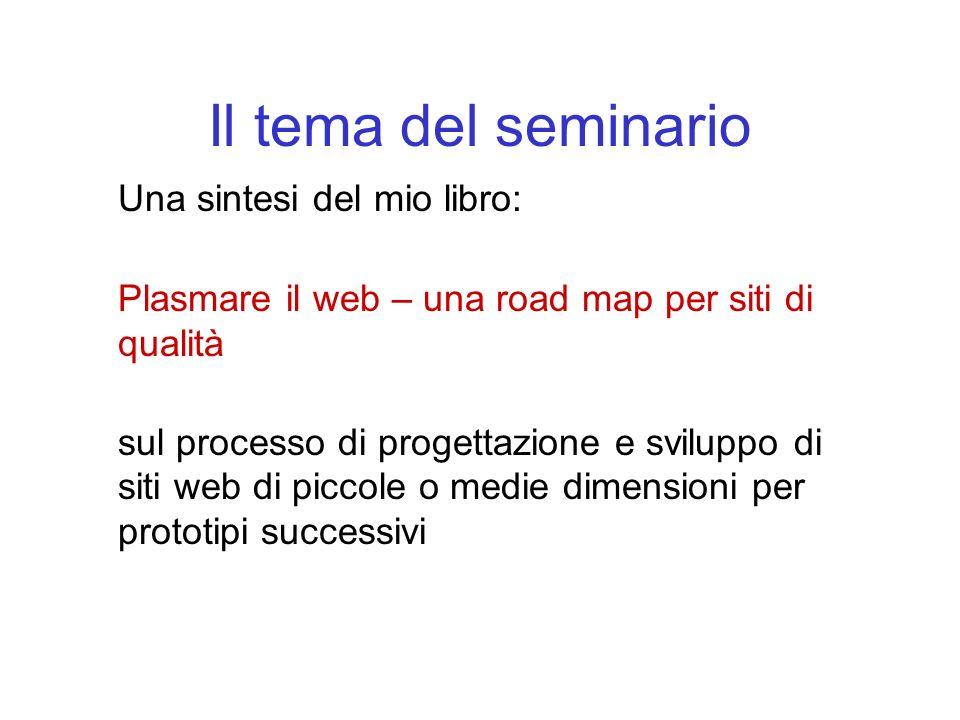 Il tema del seminario Una sintesi del mio libro: