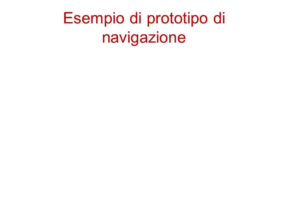 Esempio di prototipo di navigazione