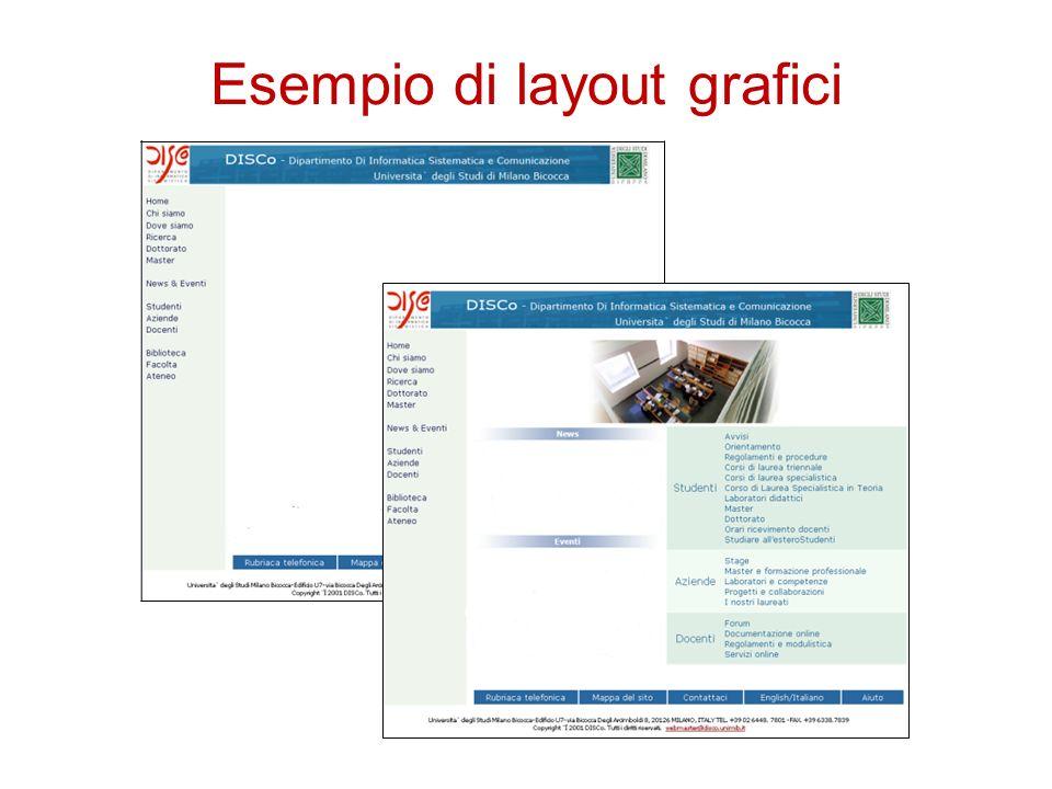 Esempio di layout grafici