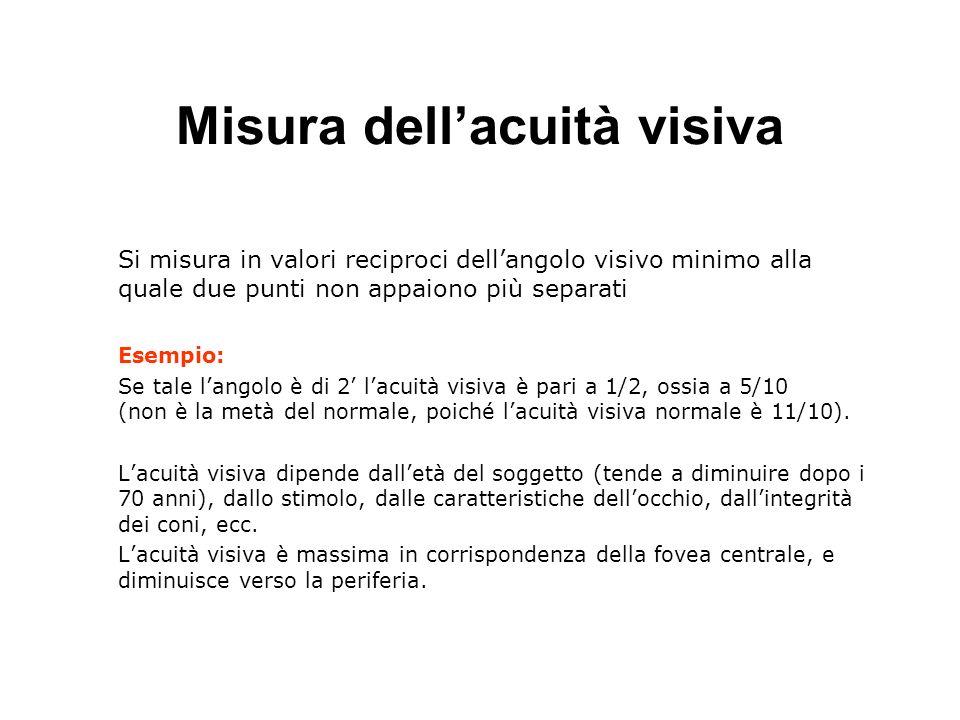 Misura dell'acuità visiva