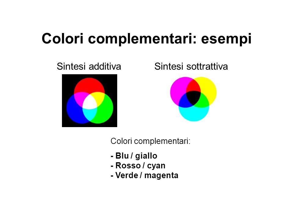 Colori complementari: esempi
