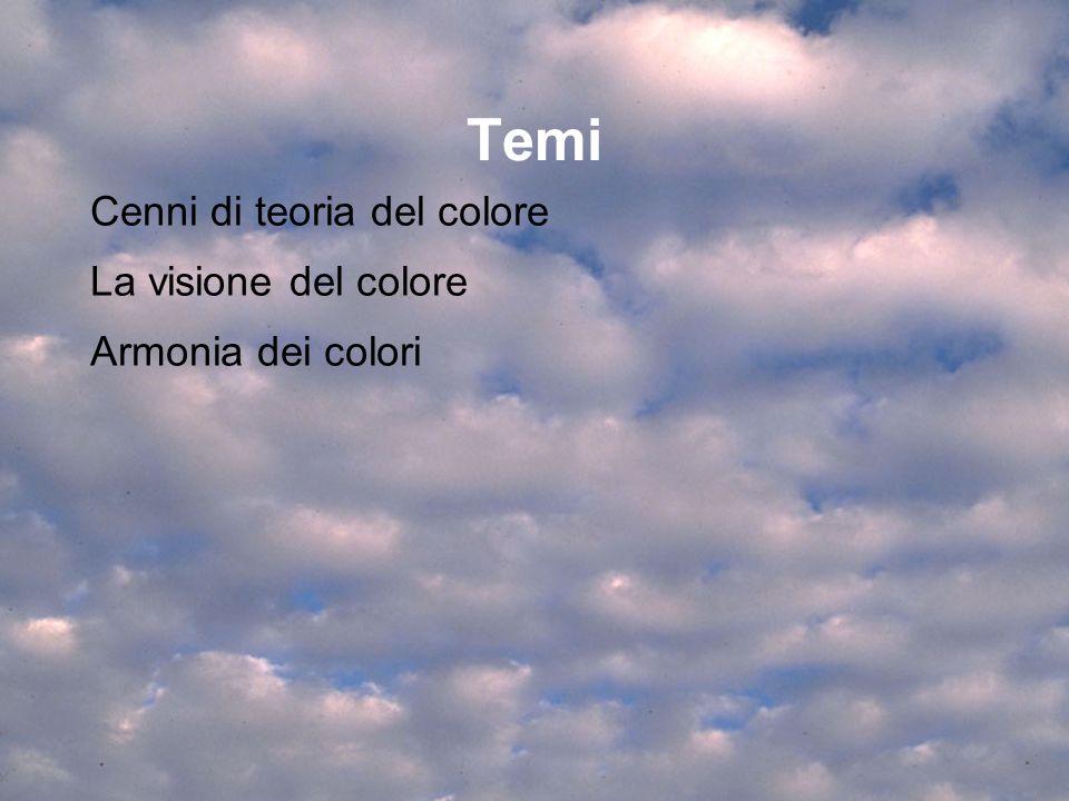 Temi Cenni di teoria del colore La visione del colore