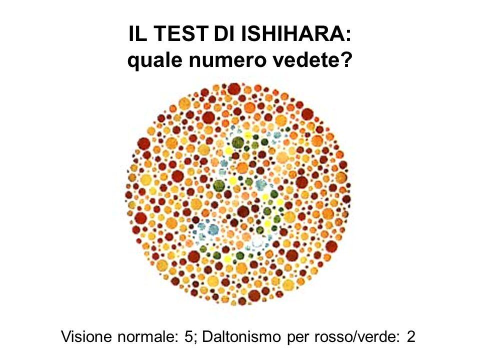 IL TEST DI ISHIHARA: quale numero vedete
