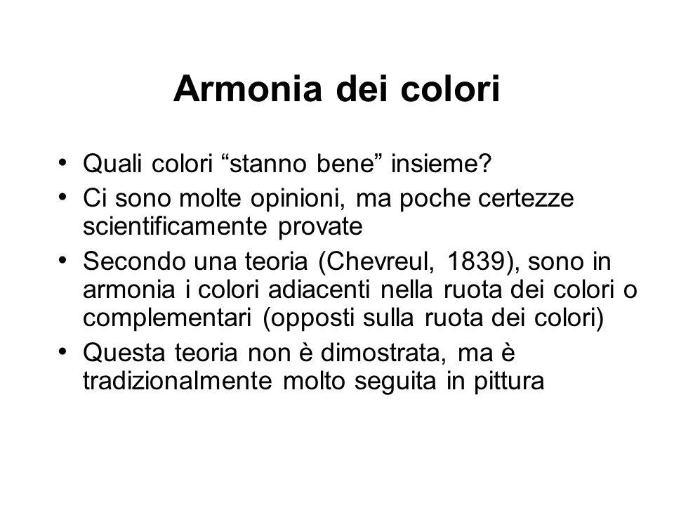 Armonia dei colori Quali colori stanno bene insieme