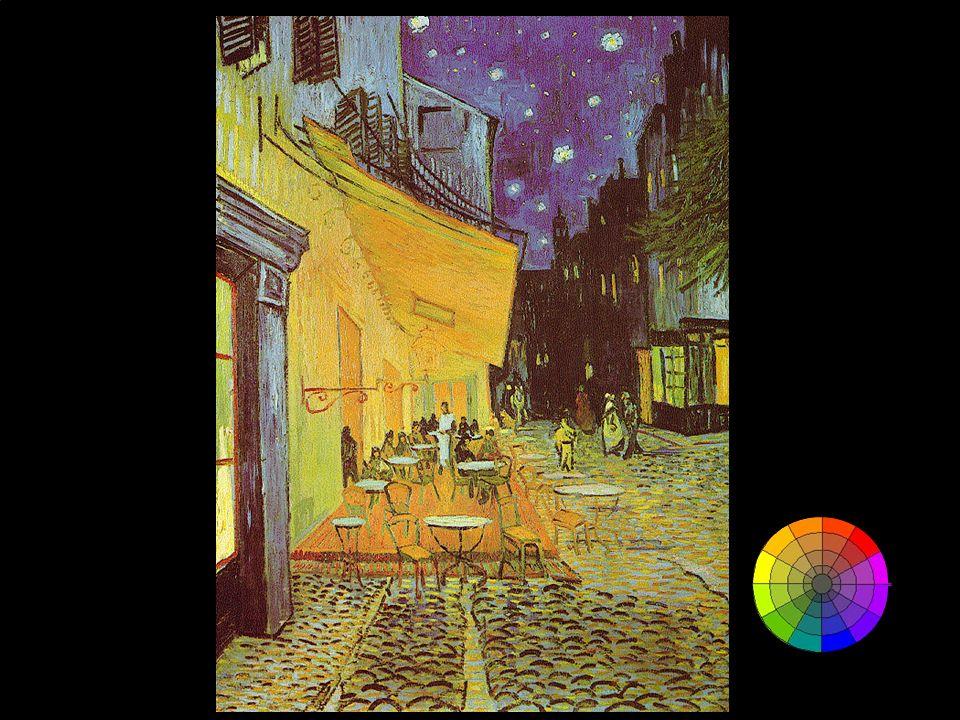 Questa slide e le successive mostrano l'uso dei colori complementari in Vincent Van Gogh
