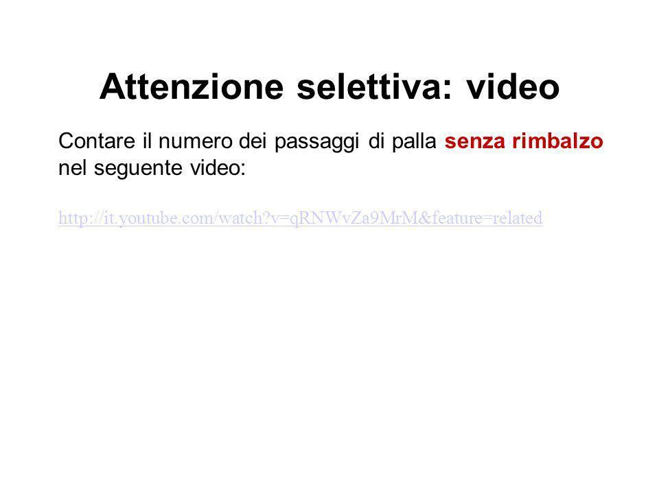 Attenzione selettiva: video