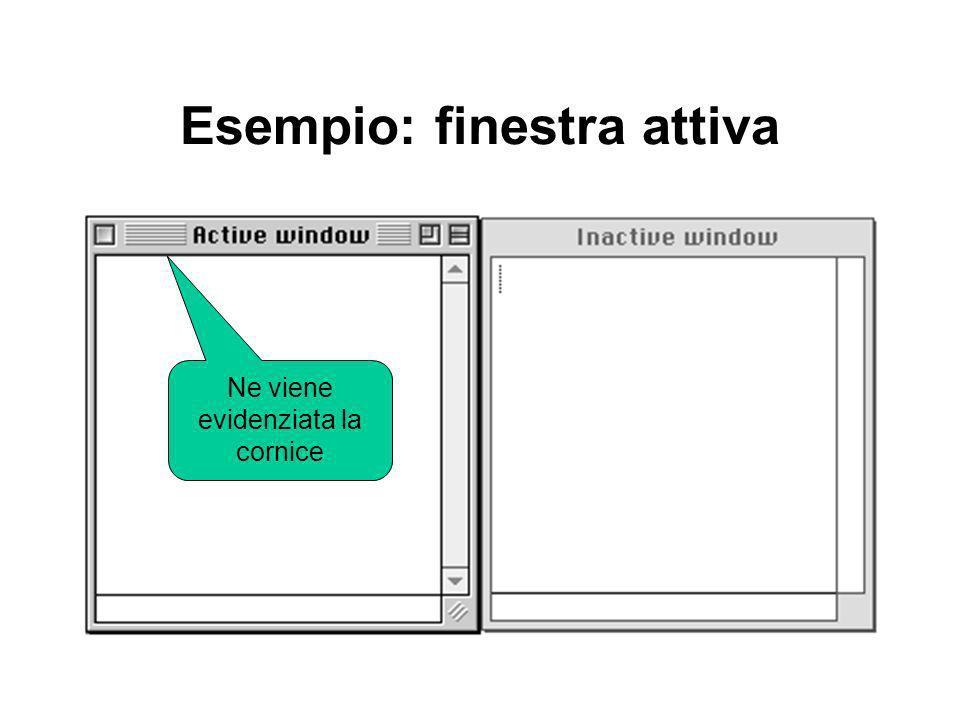 Esempio: finestra attiva