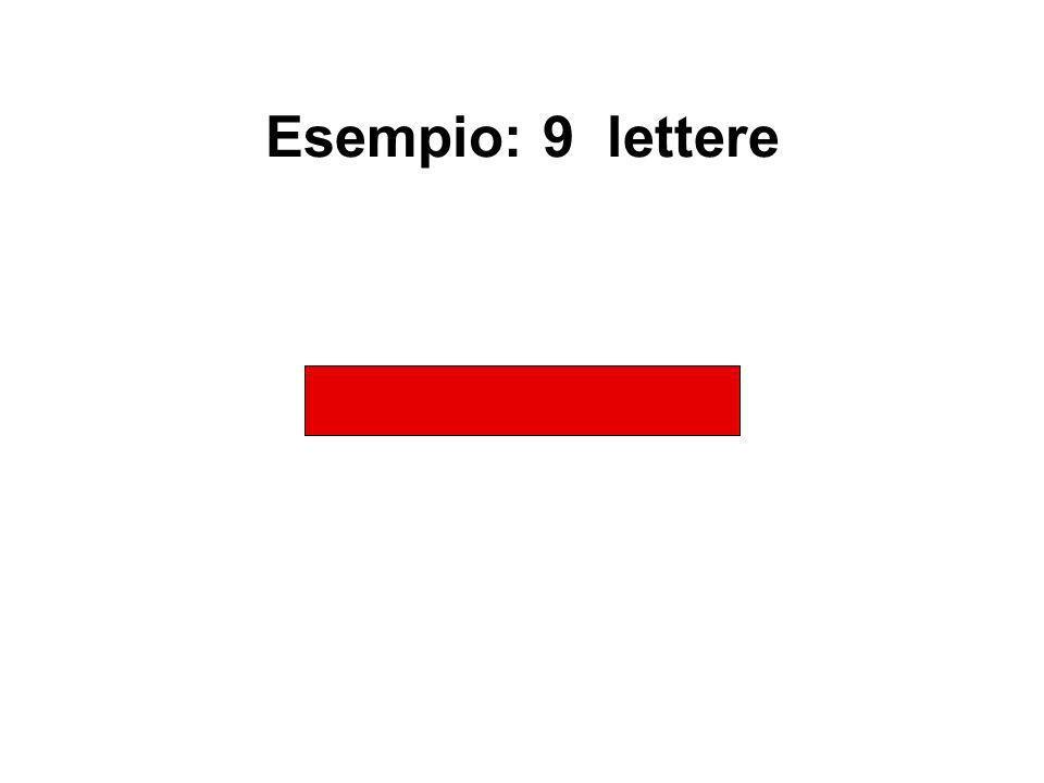 Esempio: 9 lettere W O V A P R D S N