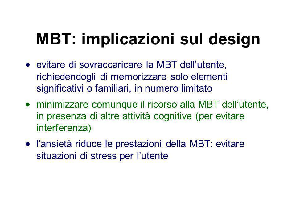 MBT: implicazioni sul design
