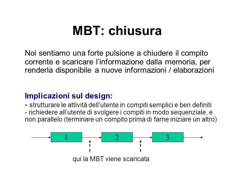 MBT: chiusura