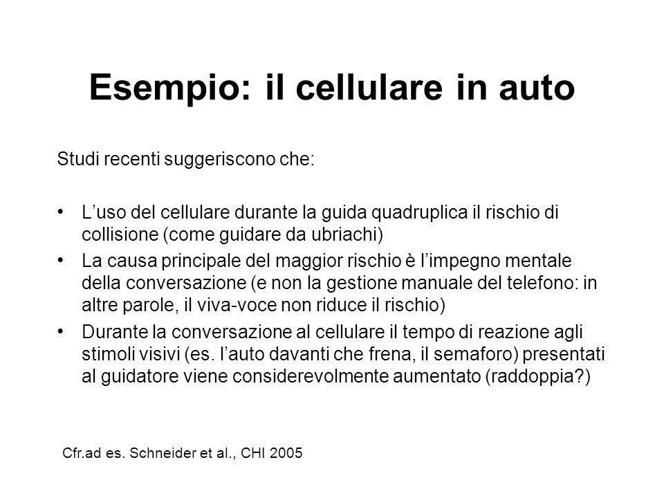 Esempio: il cellulare in auto