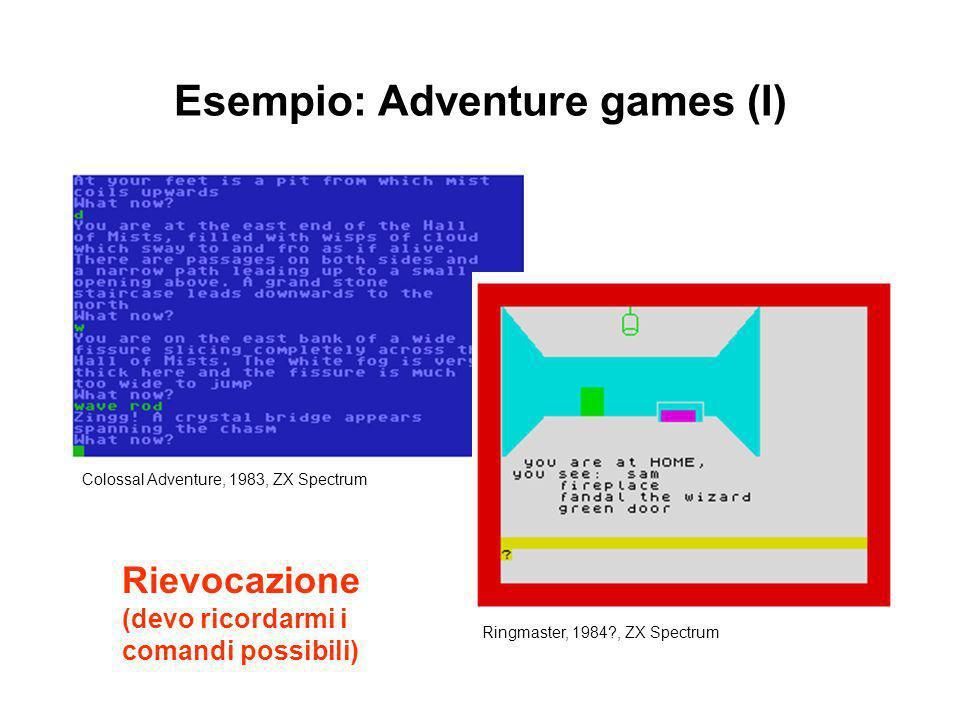 Esempio: Adventure games (I)