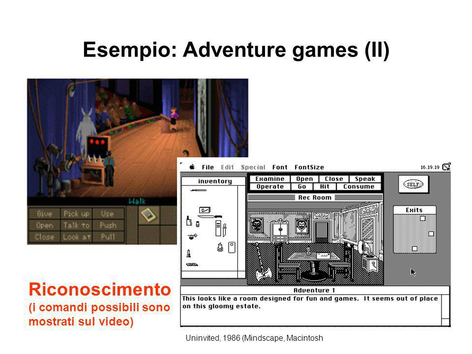 Esempio: Adventure games (II)