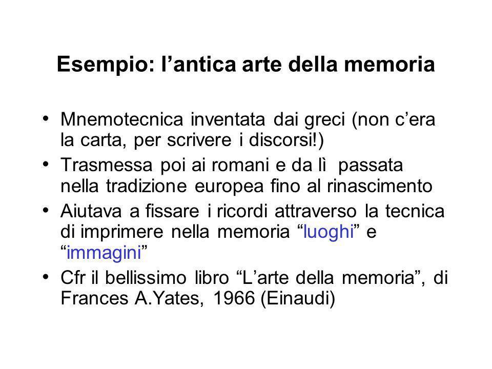 Esempio: l'antica arte della memoria