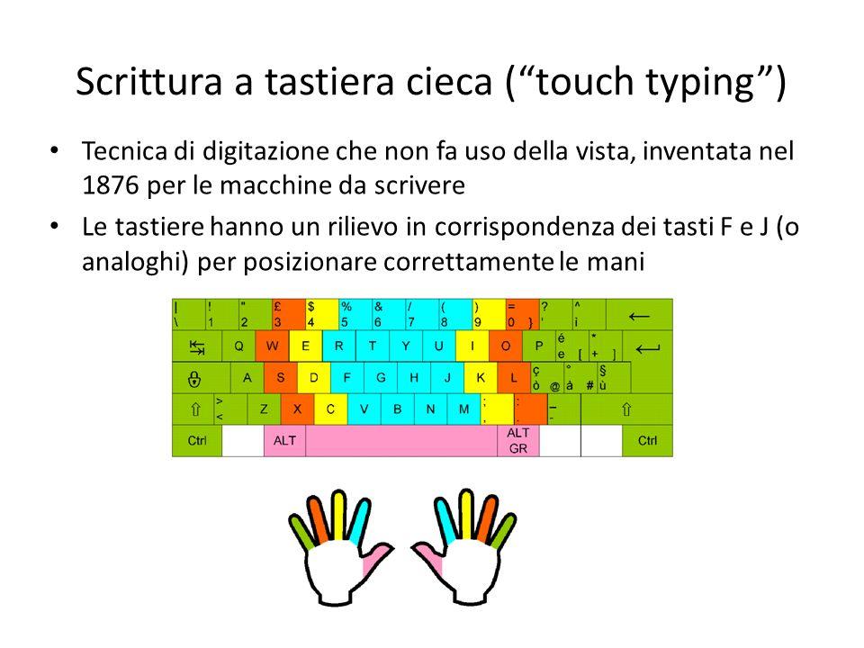 Scrittura a tastiera cieca ( touch typing )