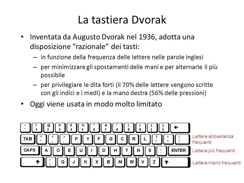 La tastiera Dvorak Inventata da Augusto Dvorak nel 1936, adotta una disposizione razionale dei tasti: