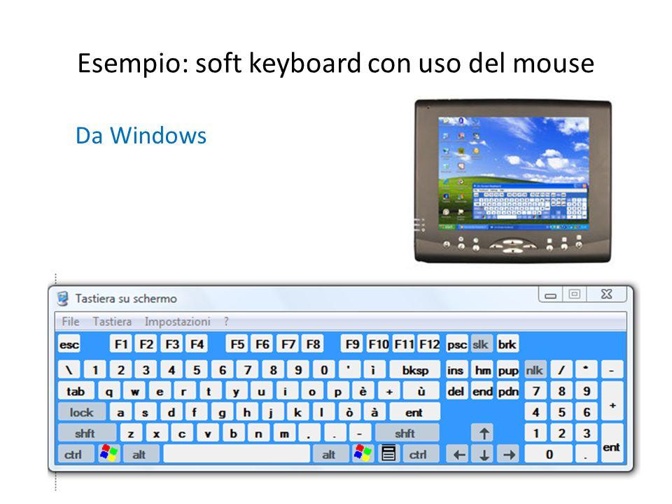 Esempio: soft keyboard con uso del mouse