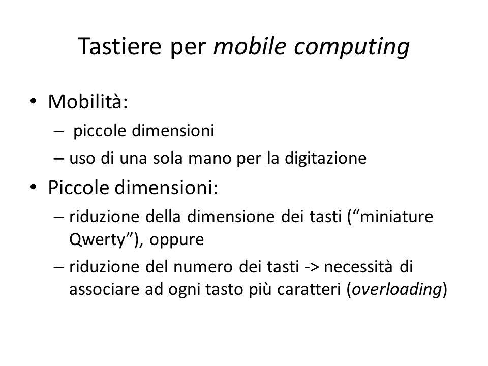 Tastiere per mobile computing
