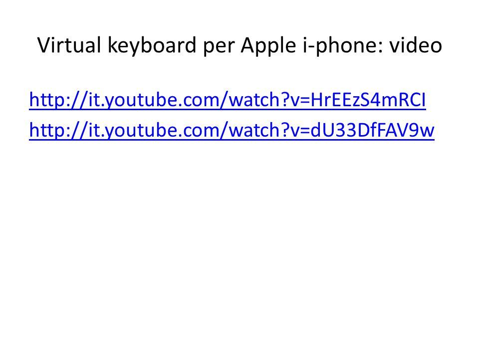 Virtual keyboard per Apple i-phone: video