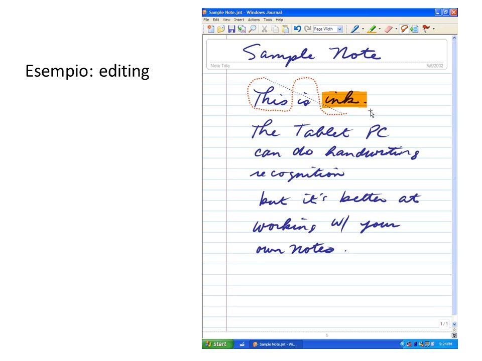 Esempio: editing