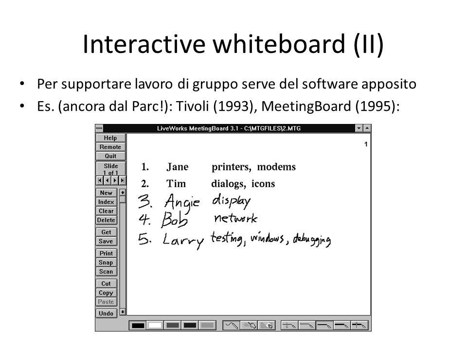 Interactive whiteboard (II)