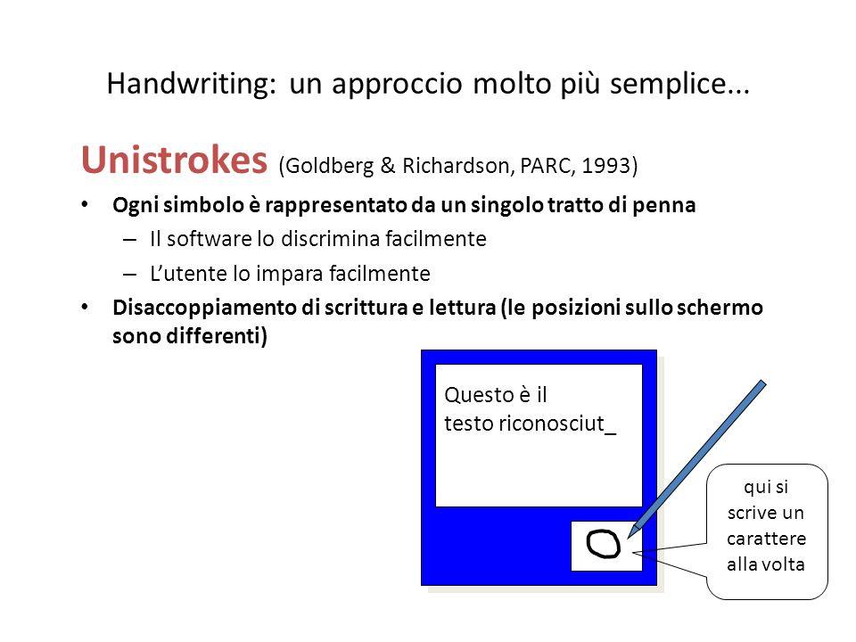 Handwriting: un approccio molto più semplice...