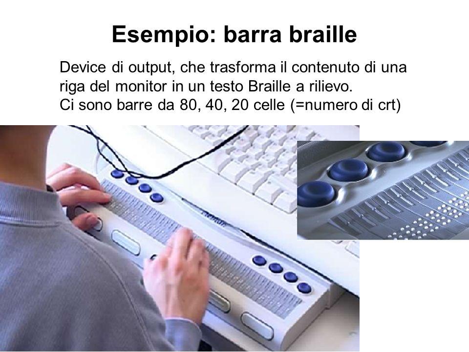 Esempio: barra braille