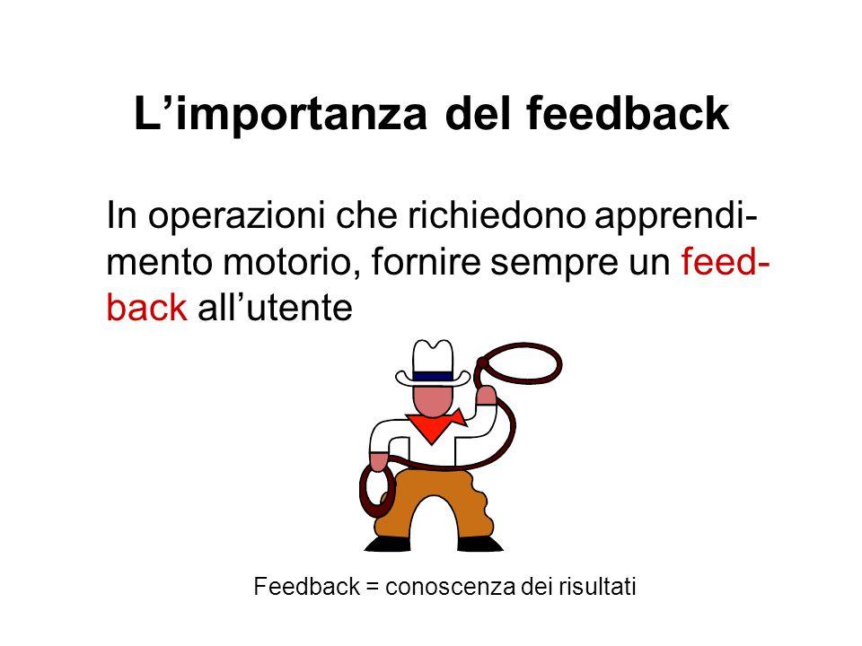 L'importanza del feedback