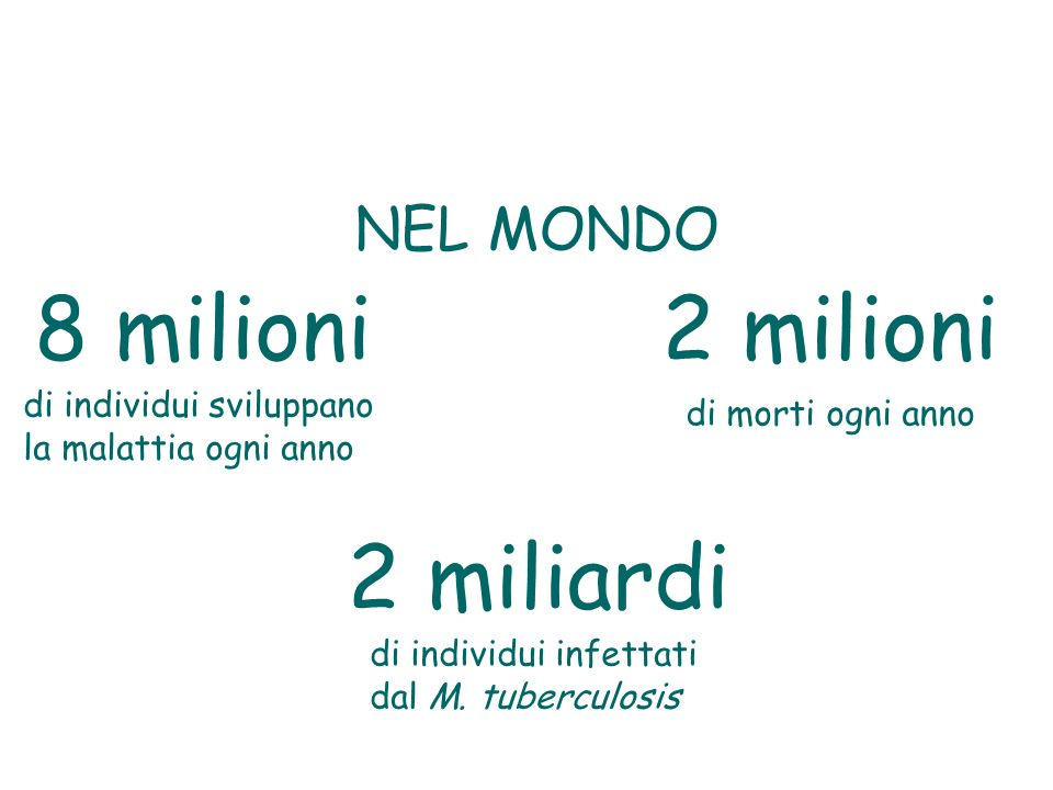 8 milioni 2 milioni 2 miliardi NEL MONDO di individui sviluppano